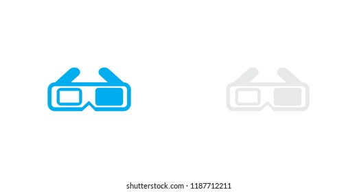 An Illustrated Icon Isolated on a Background - 3D Glasses
