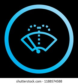 An Illustrated Icon Isolated on a Background - Washer Fluid Reminder Light