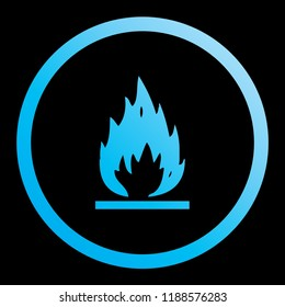 An Illustrated Icon Isolated on a Background - Open Flame