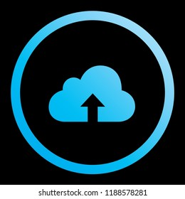 An Illustrated Icon Isolated on a Background - Cloud Upload