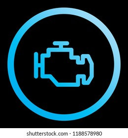 An Illustrated Icon Isolated on a Background - Check Engine Light