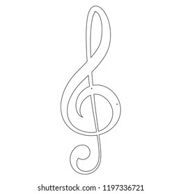 An Illustrated Icon Isolated on a Background - Treble Clef