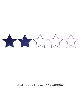 An Illustrated Icon Isolated on a Background - 2 Star Rating