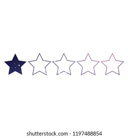 An Illustrated Icon Isolated on a Background - 1 Star Rating