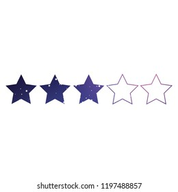 An Illustrated Icon Isolated on a Background - 3 Star Rating