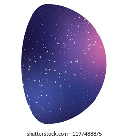 An Illustrated Icon Isolated on a Background - Moon