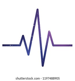 An Illustrated Icon Isolated on a Background - Heartbeat