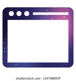 An Illustrated Icon Isolated on a Background - Browser