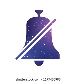 An Illustrated Icon Isolated on a Background - Bell Mute