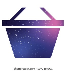 An Illustrated Icon Isolated on a Background - Basket