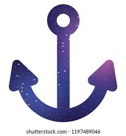 An Illustrated Icon Isolated on a Background - Anchor
