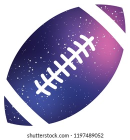 An Illustrated Icon Isolated on a Background - American Football