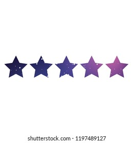 An Illustrated Icon Isolated on a Background - 5 Star Rating