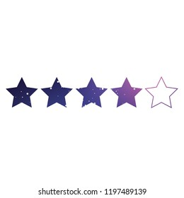 An Illustrated Icon Isolated on a Background - 4 Star Rating