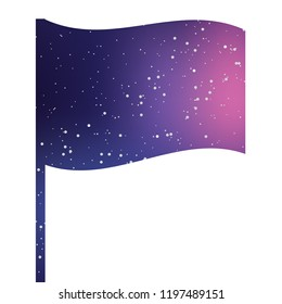 An Illustrated Icon Isolated on a Background - 3D Waving Flag