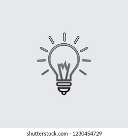 An Illustrated Icon Isolated on a Background - Round Light Bulb