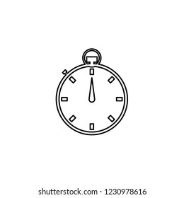 An Illustrated Icon Isolated on a Background - Stopwatch