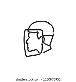 An Illustrated Icon Isolated on a Background - Safety Visor