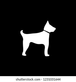 An Illustrated Icon Isolated on a Background - Guard Dog