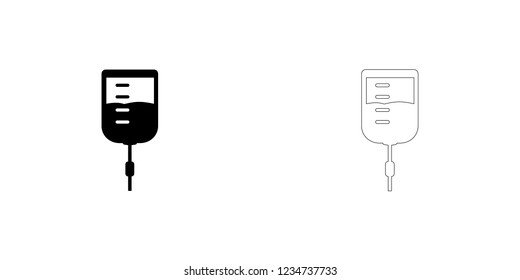 An Illustrated Icon Isolated on a Background - IV Intravenous Drip