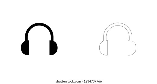 An Illustrated Icon Isolated on a Background - Headphones
