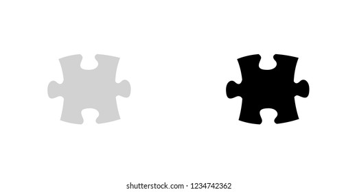 An Illustrated Icon Isolated on a Background - Puzzle Piece