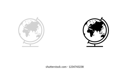 An Illustrated Icon Isolated on a Background - Globe Europe Asia Oceania