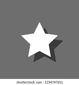 An Illustrated Icon Isolated on a Background - 5 Pointed Star