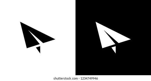 An Illustrated Icon Isolated on a Background - Paper Airplane