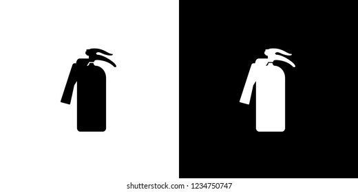 An Illustrated Icon Isolated on a Background - Fire Extinguisher