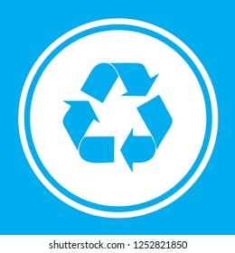An Illustrated Icon Isolated on a Background - Recycling