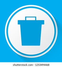 An Illustrated Icon Isolated on a Background - Trash Can