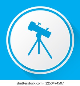 An Illustrated Icon Isolated on a Background - Telescope