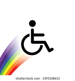 An Illustrated Icon Isolated on a Background - Wheelchair