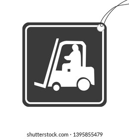 An Illustrated Icon Isolated on a Background - Fork Lift Truck