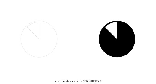An Illustrated Icon Isolated on a Background - 87 Percent Pie Chart