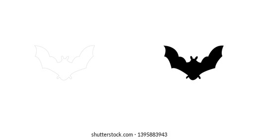 An Illustrated Icon Isolated on a Background - Bat