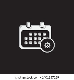 An Illustrated Icon Isolated on a Background - Rounded Calendar Configure