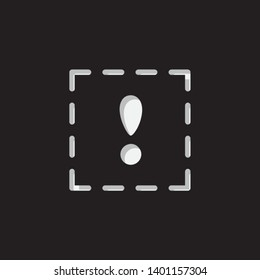 An Illustrated Icon Isolated on a Background - Squared Exclamation Mark
