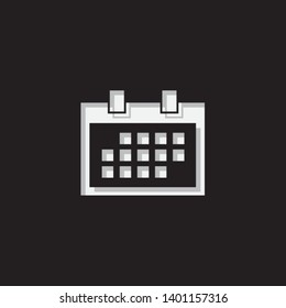 An Illustrated Icon Isolated on a Background - Square Calendar