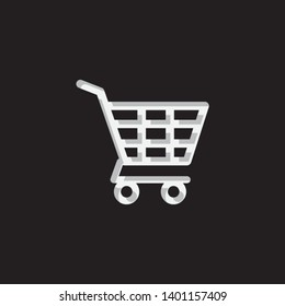An Illustrated Icon Isolated on a Background - Shopping Trolley