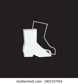 An Illustrated Icon Isolated on a Background - Safety Boots
