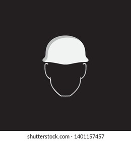 An Illustrated Icon Isolated on a Background - Safety Helmet