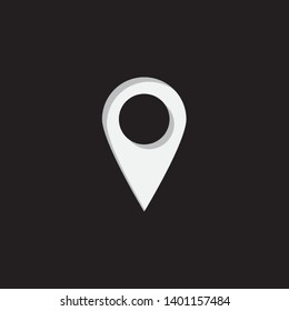 An Illustrated Icon Isolated on a Background - Rounded Map Pointer