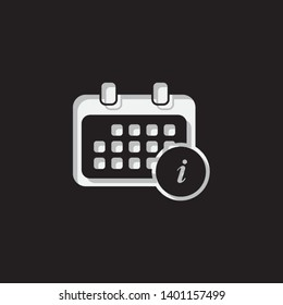 An Illustrated Icon Isolated on a Background - Rounded Calendar Information