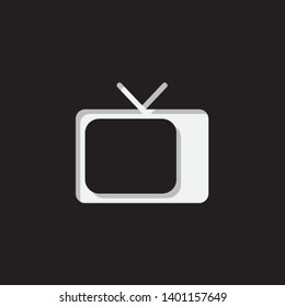 An Illustrated Icon Isolated on a Background - Retro Television