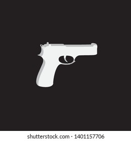 An Illustrated Icon Isolated on a Background - Pistol