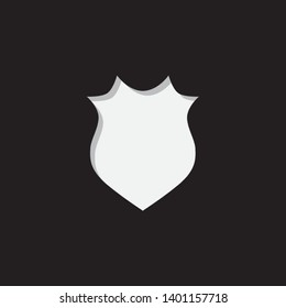 An Illustrated Icon Isolated on a Background - Pointy Shield
