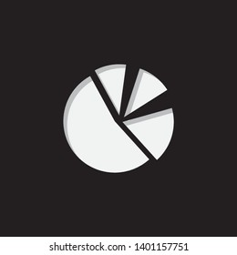 An Illustrated Icon Isolated on a Background - Pie Chart