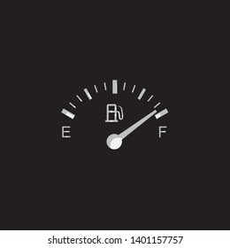 An Illustrated Icon Isolated on a Background - Petrol Gauge Full